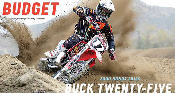 Follow this link to the full digital edition story: http://www.dirtrider.com/features/2000-honda-cr125/ Or click on the image above for the one-page printed edition.