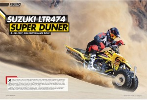 On the cover and inside the January issue of ATV Action (page 58-62)
