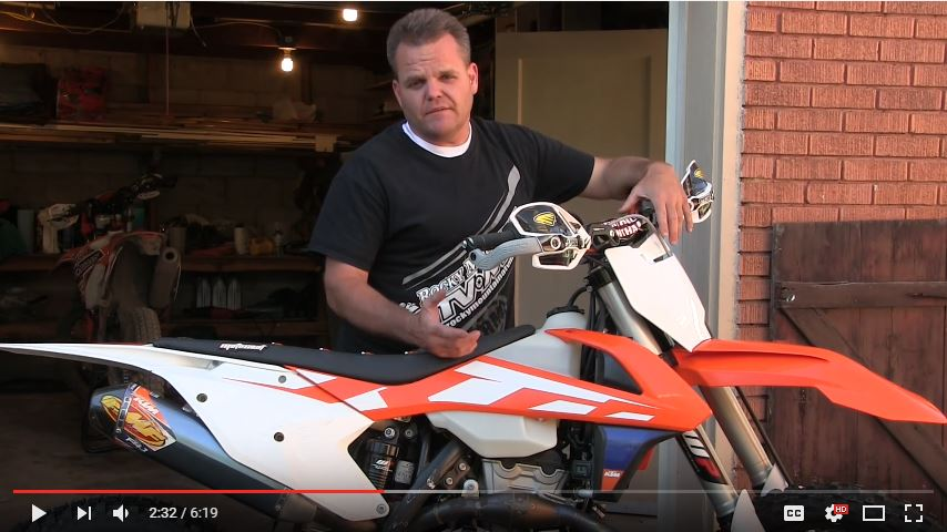 Click to watch the video on Dirt Bike TV