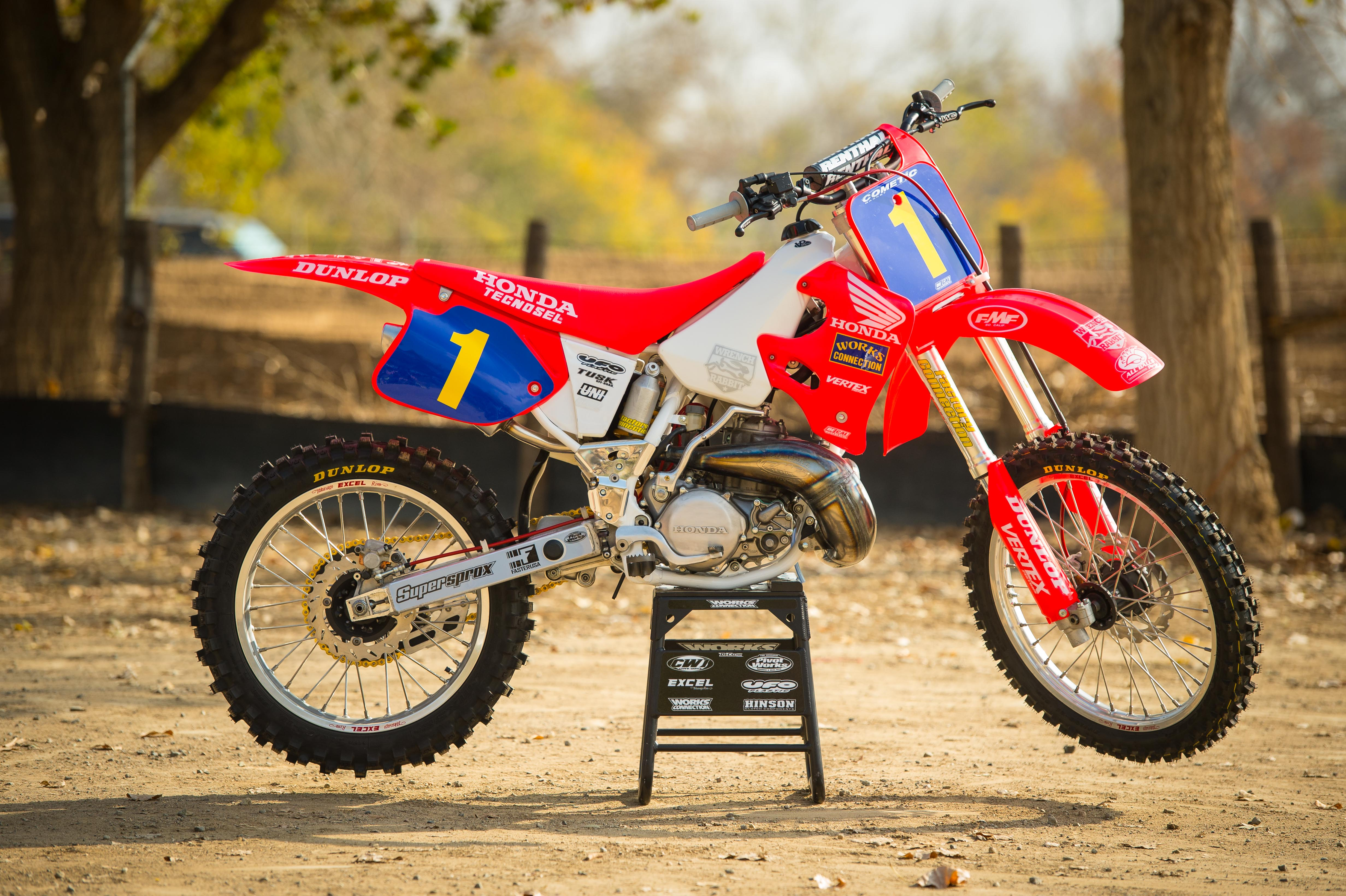 Here is the magazine story from the new Racer X on our Honda CR250R classic re-build.