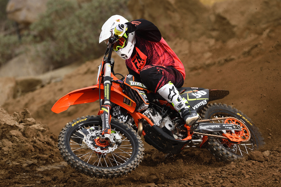 This is our KTM 270XFbuild in Dirt Bike Magazine's April Edition